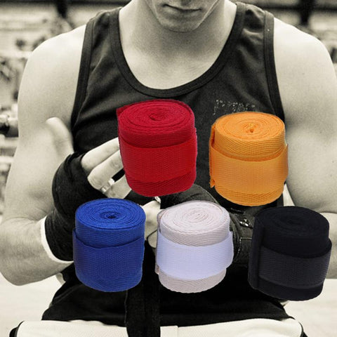 Image of 2.5M Boxing Elastic Bandage Handwraps for Boxing Kickboxing Muay Thai MMA - RJT Supplies