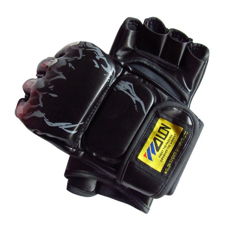 Gloves MMA Half Finger Boxing Gloves MMA UFC synthetic Leather Kickboxing Gloves