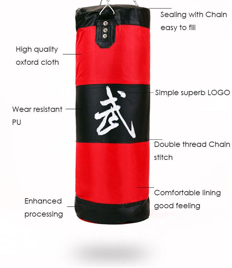 100cm Unfilled Heavy Boxing Punching Bag Training Gloves,Chains,bandage