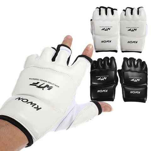 Image of Gloves MMA Half Finger Boxing Gloves MMA UFC synthetic Leather Kickboxing Gloves