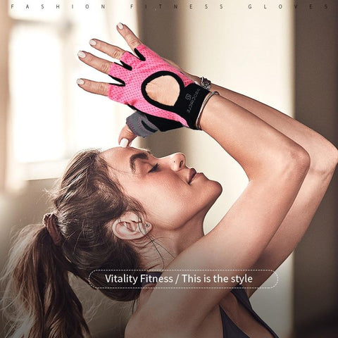 Image of Gloves Gym Weight Lifting Breathable & Non-Slip, Workout, Exercise Gloves Dumbbells - RJT Supplies