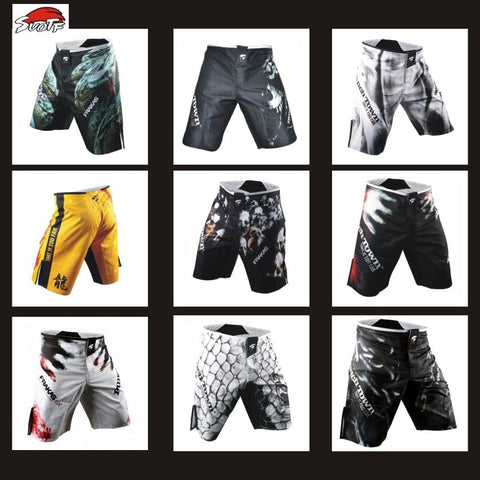 Image of MMA shorts Knee-Length MMA Fight Shorts side slit for extra flexibility