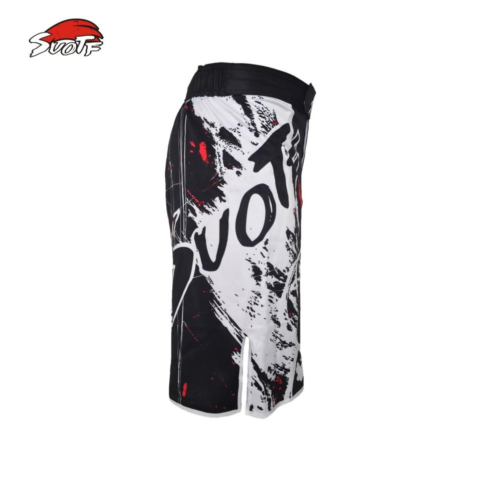 MMA Shorts Knee -Length MMA Fight Shorts Side Slit for Extra Flexibility - RJT Supplies