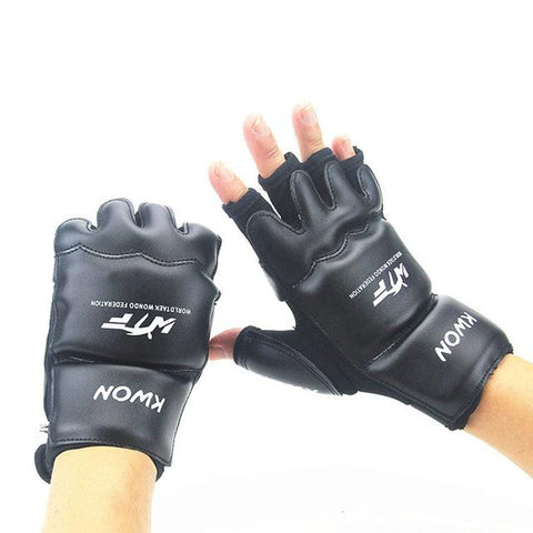 Image of Gloves MMA Half Finger Boxing Gloves MMA UFC synthetic Leather Kickboxing Gloves - RJT Supplies