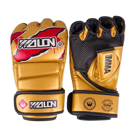 Gloves MMA Half Finger Boxing Gloves MMA UFC synthetic Leather Kickboxing Gloves - RJT Supplies