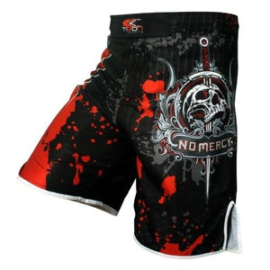 MMA shorts Knee-Length MMA Fight Shorts side slit for extra flexibility