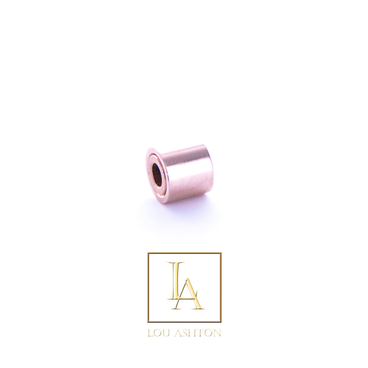 Bouchon large finition or rose 18k