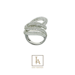 Bague Constellation finition rhodium
