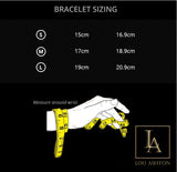 Bracelet des princes de la mort finition or jaune 18k