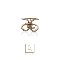 Bague Piona finition or rose 18k