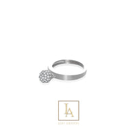 Bague Elara finition rhodium