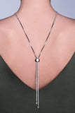 Collier Cristia finition rhodium