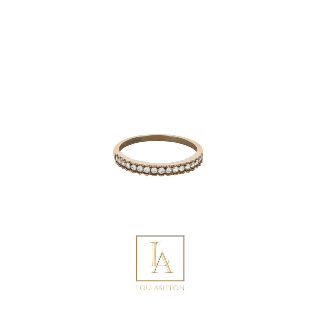 Bague Elegance  finition or rose 18k