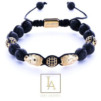 Bracelet bouddha luxury finition or jaune 18k