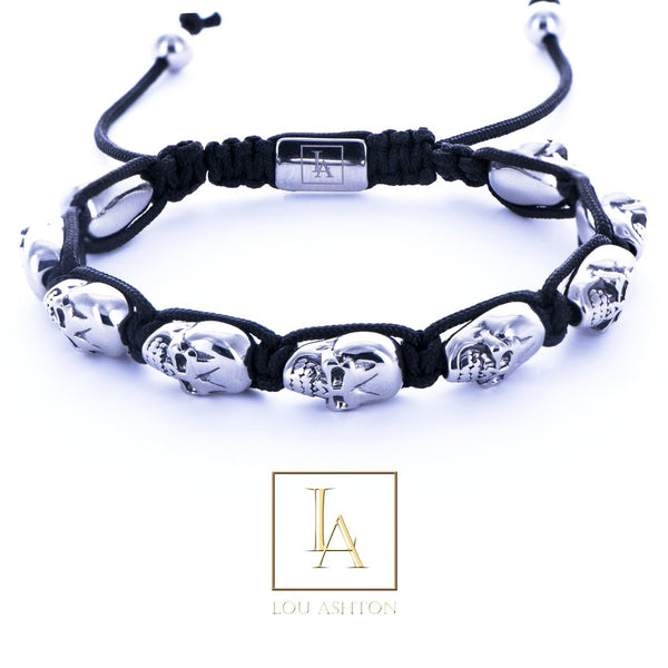 Bracelet Dios des morts finition rhodium