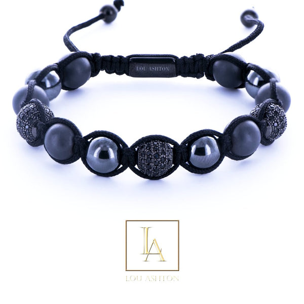 Bracelet Zinox finition rhodium noir
