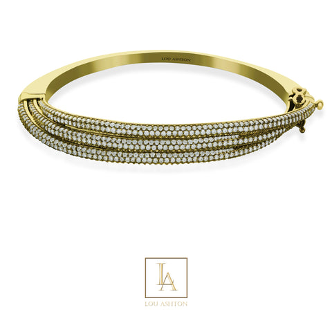 Bangle Ashton finition or jaune 18k