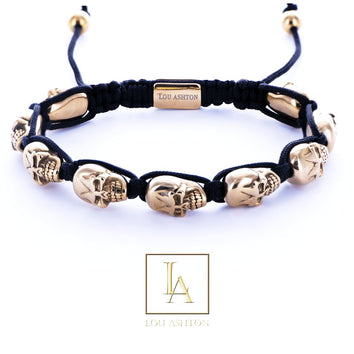 Bracelet Dios des morts finition or jaune 18k
