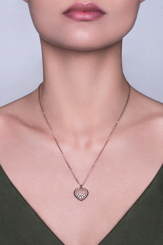 Collier Big Love finition or rose