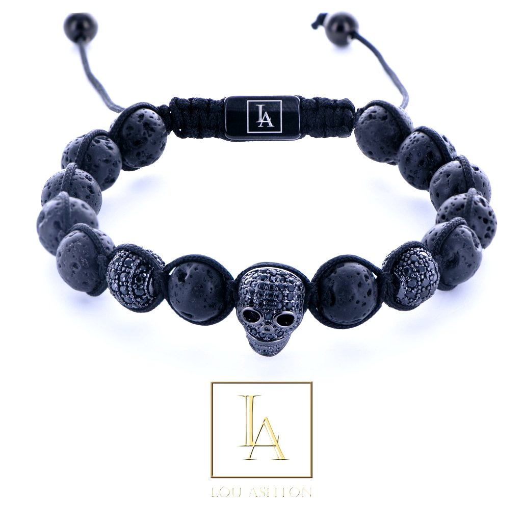 Bracelet Kors des morts finition rhodium noir