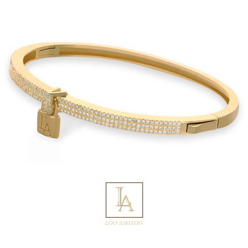 Bangle Lou Ashton finition or rose 18k