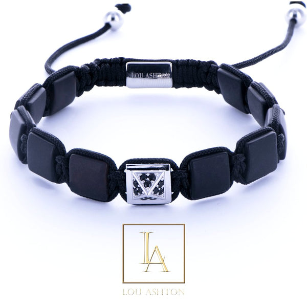 Bracelet Pyramide royale finition rhodium