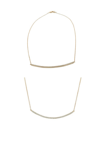 Collier Ysa finition or rose 18k