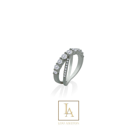Bague Félucia finition rhodium
