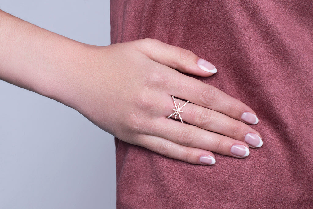 Bague Elite finition or rose 18K