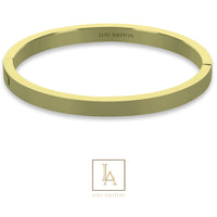 Bangle Titania finition or jaune
