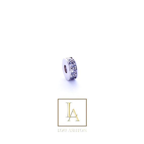 Bouchon fin finition rhodium & cz diamant blanc