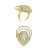 Bague Zaniah  finition or jaune 18K