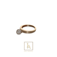 Bague Elara finition or rose 18k