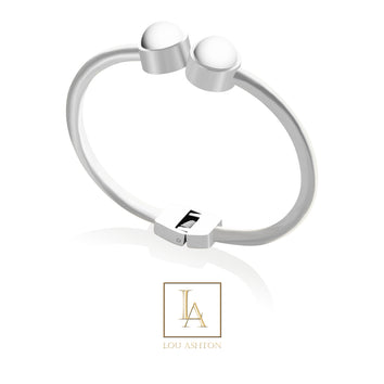 Bangle Love finition rhodium
