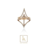 Bague Lou finition or rose 18k