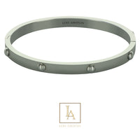 Bangle Rhéa finition rhodium