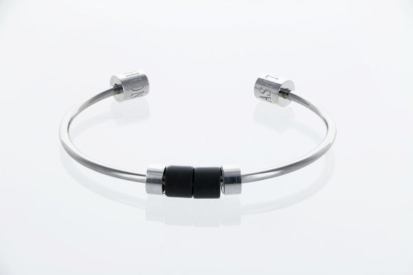 Bangle exclusif Datura onyx noir mat