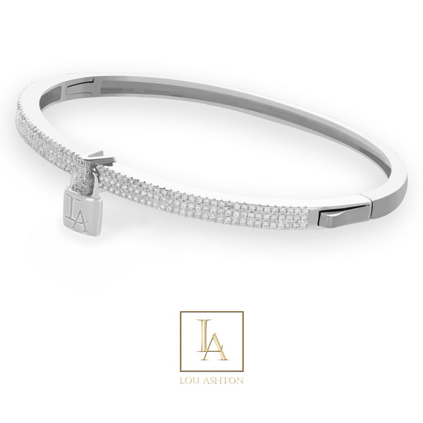 Bangle Lou Ashton finition rhodium