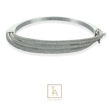 Bangle Ashton finition rhodium