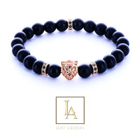 Bracelet rois des lions Thyristor finition or rose 18k