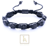 Bracelet Dios des morts finition rhodium noir