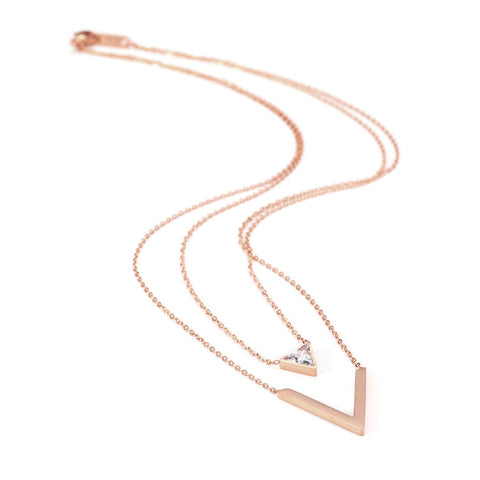 Collier Victoire finition or rose