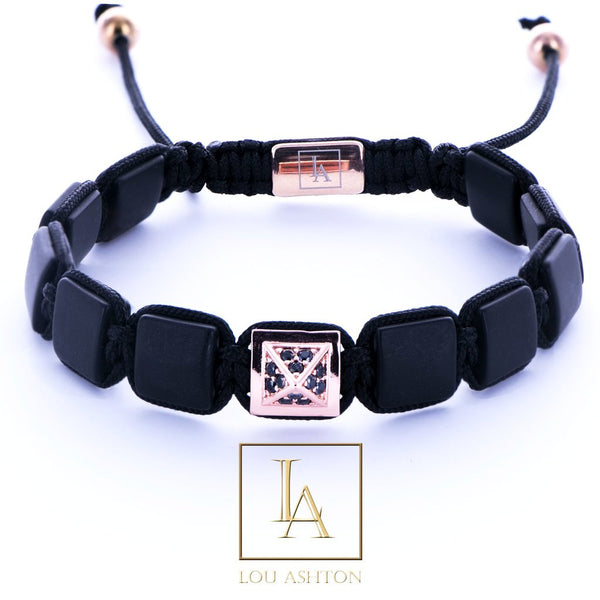 Bracelet Pyramide Royale finition or rose 18k
