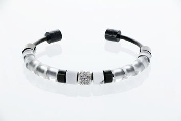 Bangle exclusif Datura finition gunmetal