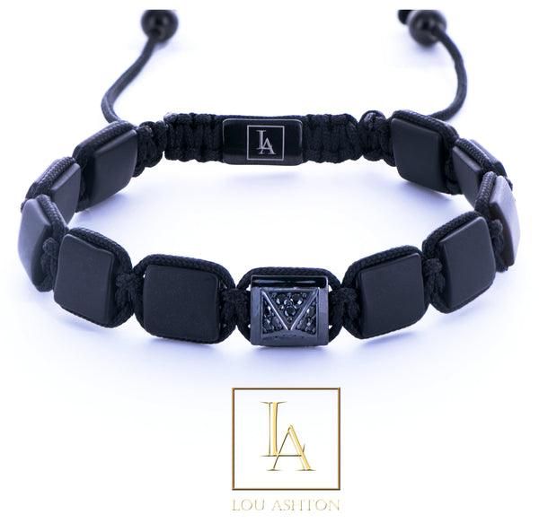 Bracelet Pyramide Royale finition rhodium noir