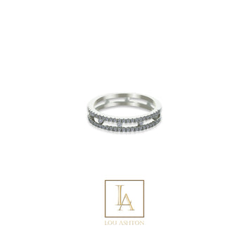 Bague Syrma finition rhodium
