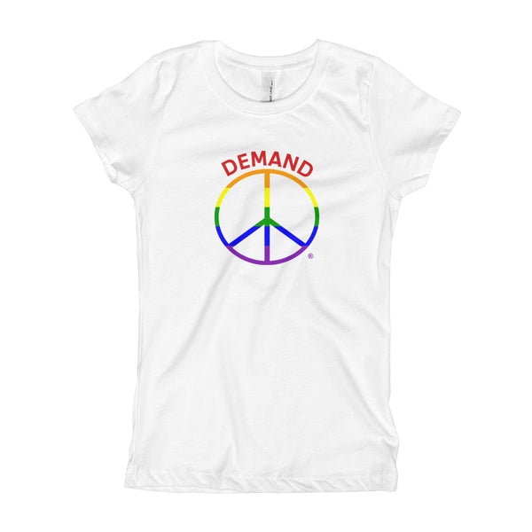 Demand Peace Girl's T-Shirt