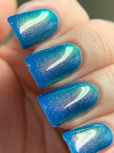 Turned Up Tanzanite - Bright Blue Jelly OGUP Polish