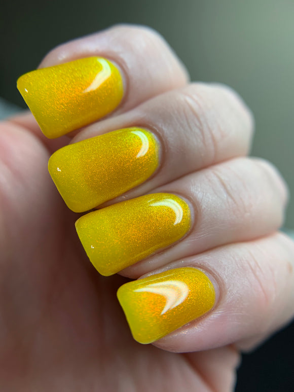 Blazing Beryl - Yellow Jelly OGUP Polish