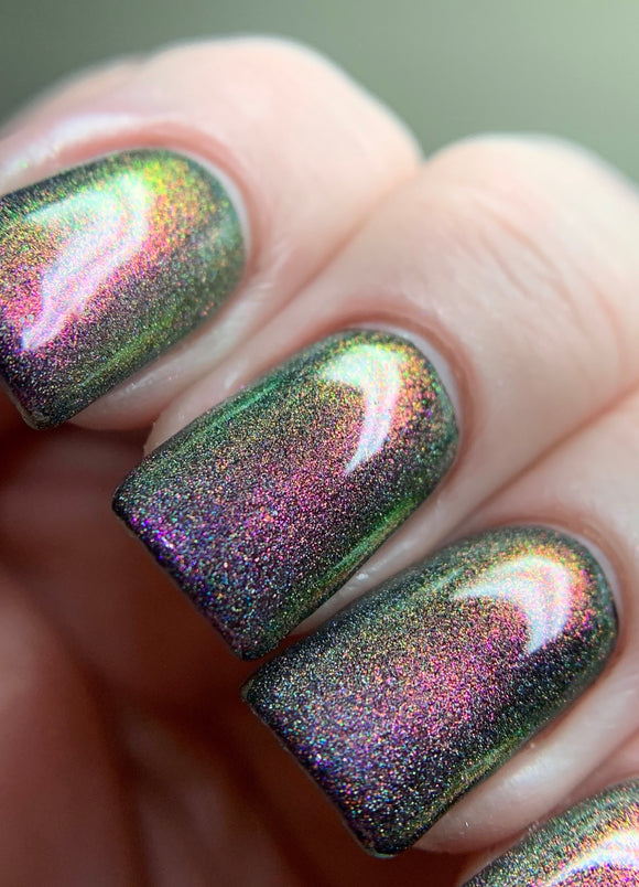 Liquid Lust - Fuchsia, Violet, Gold, Green With Holo Ultra Dense Topper